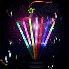 48 Centimetri Multicolor Light Up Lampeggiante Rave Stick Led Lampeggiante Dello Stroboscopio Concerto Del Partito Decorativo Incandescente Bacchetta Rod Scherza Il Regalo(China)