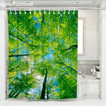 3D Print Tree Shower Curtains Green Bathroom Curtain Waterproof Bath 180*180cm / 180*200cm 180*220cm 180*240cm