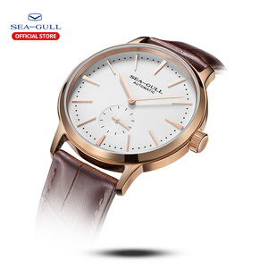 Image 2 - Seagull Business Watches Mens Mechanical Wristwatches 50m Waterproof Leather Valentine Male Watches 819.22.6075