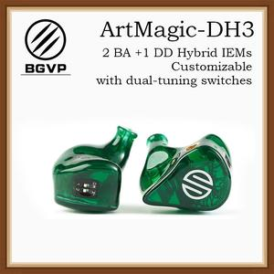 BGVP ArtMagic DH3 2 Balanced Armatures 1 Dynamic Driver CustomizableHIFI Earphone In Ear Monitors MMCX Interface Earbuds(China)
