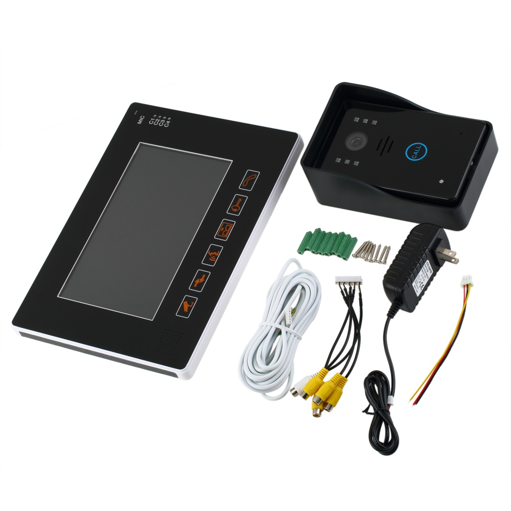 9 Inch Security Ultra-slim Full-touch Screen Color TFT LCD Video Door Phone No Radiation Low Power Consumption HD
