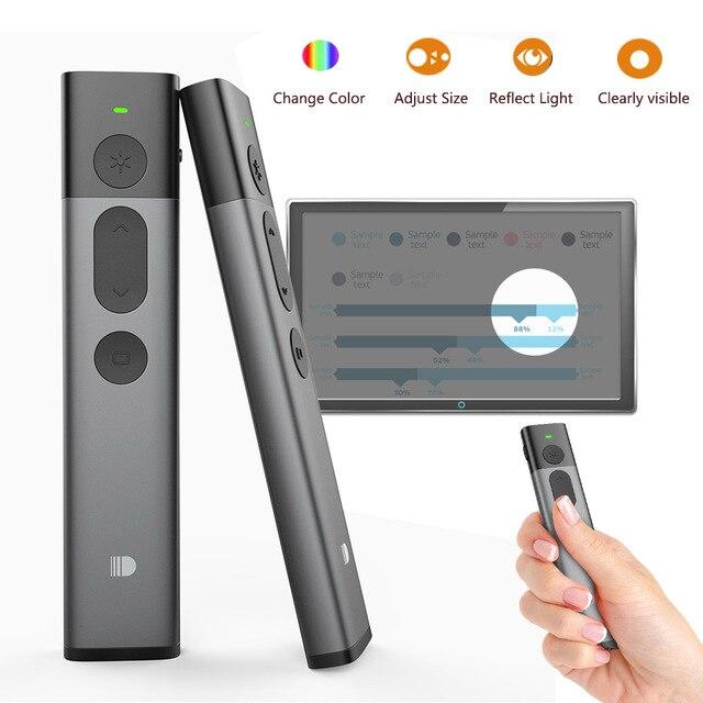 Hervorhebung Wireless Presenter, Doosl Erweiterte Präsentation Fernbedienung mit Digital Hervorhebung Vergrößern, 98FT Palette, 2,4 GHz