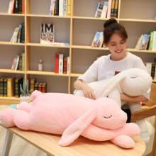 Cute bunny rabbit plush toys Bunny Stuffed &Plush Animal Baby Toys doll baby accompany sleep toy gifts For kids fancytrader large plush bunny doll lovely soft stuffed cartoon rabbit kids toys gifts pink purple for chilren 100cm