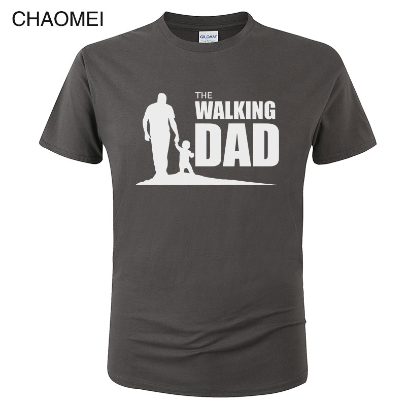 The Walking Dad Party T Shirt Novelty Funny Tshirt Mens Clothing Short Sleeve Camisetas T-shirt Casual Tops Tees C81