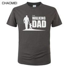 O Andar Pai Camiseta Partido Engraçado Da Novidade Tshirt Dos Homens de Roupas de Manga Curta Camisetas T-shirt Casual Tops Tees C81