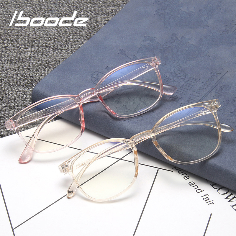 Iboode Anti Blue Light Unisex Eye Glasses Frame For Women Men Fashion Simple Anti Blue Ray Spectacle Frames Clear Lens Eyewear
