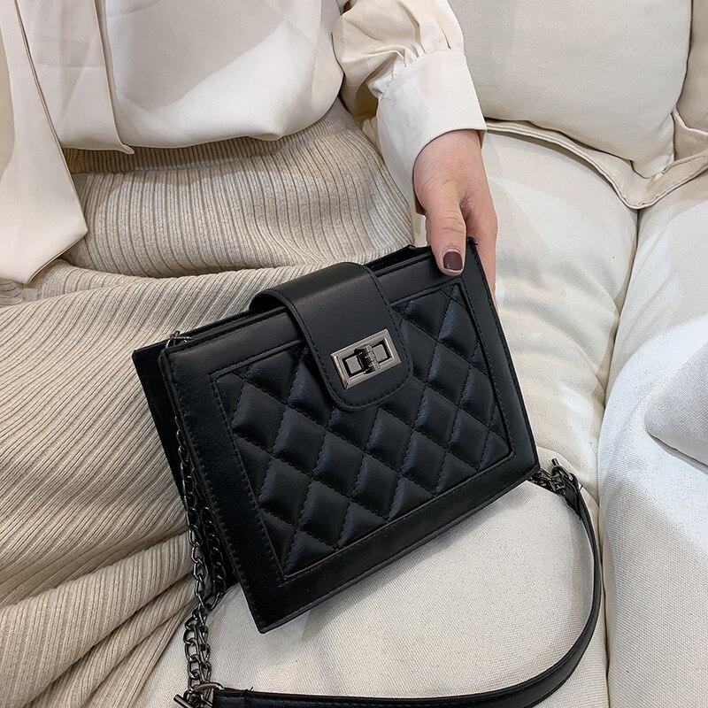 High Grade Sense Bag Women's 2020 New Style Fashion Korean-style Versatile Graceful Rhombus Chain Shoulder Bag Fashion Small Squ