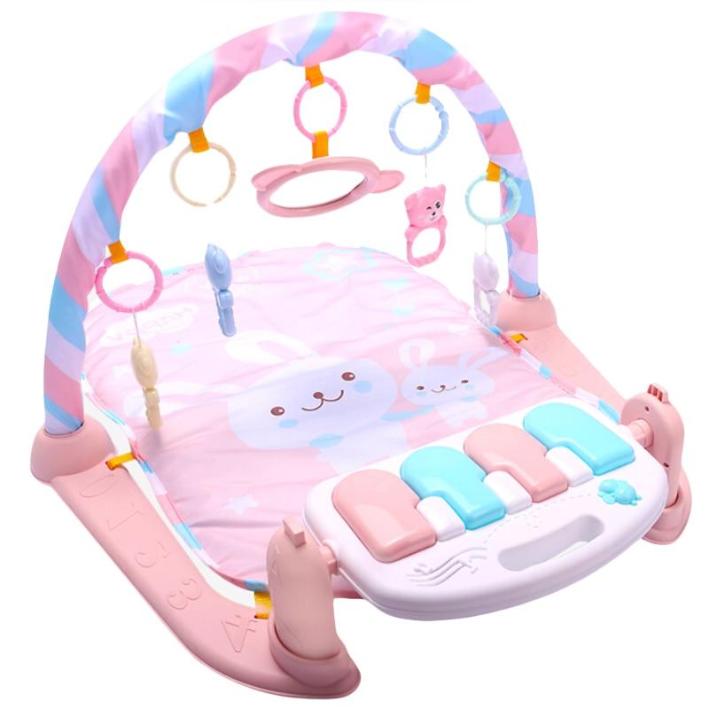 Tapis de jeu bébé bébé GymToys 0-12 mois éclairage doux hochets jouets musicaux pour bébés Brinquedos jouer Piano gymnase