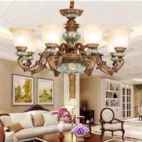 Modern Chandelier Lighting Resin Lustre LED Moderne Modern Chandeliers China Home Lighting Indoor Lamp