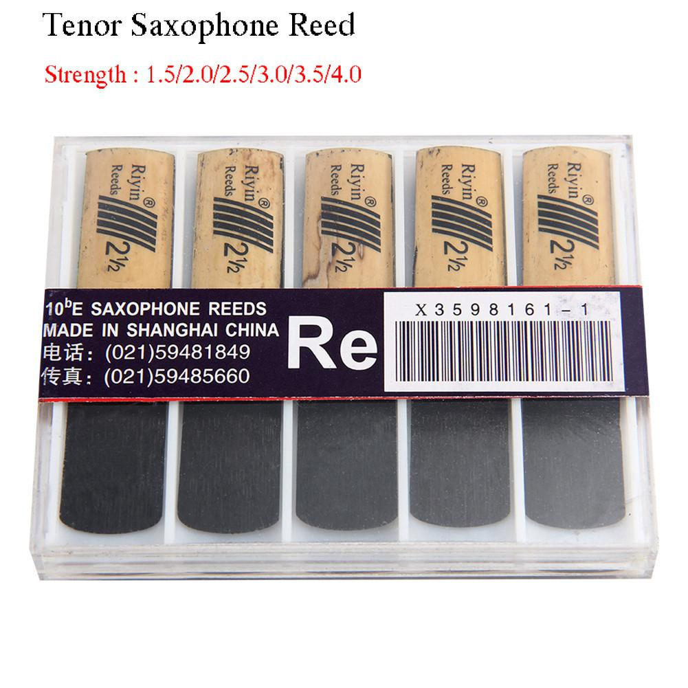 SLADE 10pcs Saxophone Reed Set With Strength 1.5/2.0/2.5/3.0/3.5/4.0 For Tenor Sax Reed Woodwind Instrument Parts Accessories