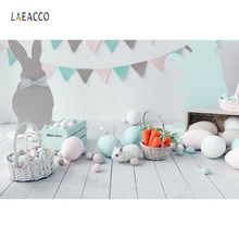 Laeacco Easter Eggs Rabbit Room Flag Baby Newborn Floor Photography Background Customized Photographic Backdrop For Photo Studio s 3227 easter eggs easter basket wood floor baby newborn child photo background photography backdrops