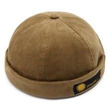 Винтажная купольная шапка lesov мужские теплые бархатные шапки