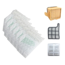 HOT!Dust Bags Filter Set Replacement Kit for Vorwerk VK135 VK136 369 Vacuum Cleaner