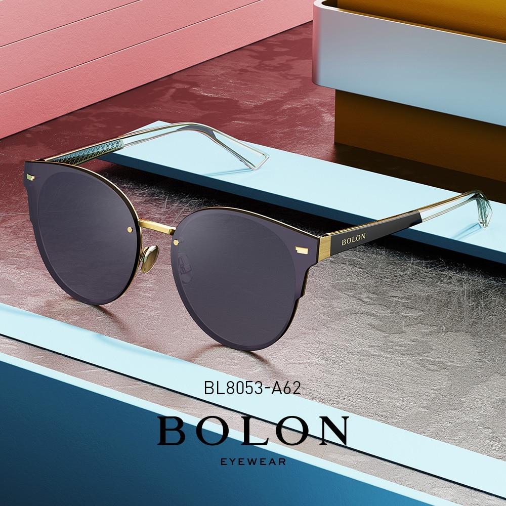 BOLON Cat Eye Sunglasses Women 2020 NEW High Quality Black Pink Sunglasses Polarized BL8053