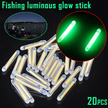 20pcs Fishing Fluorescent Lightstick Floating Luminous Stick for Night Fishing Float Rod Lights Glow Stick Lots Fishing/Party clip on 20pcs 10bags xl l m night fishing lighting stick wand green chemical glow stick fishing light stick fu020
