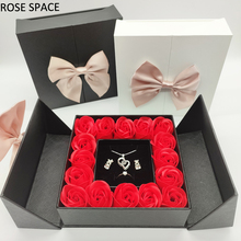 ROSE SPACE Black/White Gift Box Event & Party Wedding Birthday Rose Flower Christmas Valentine's Day Mother's Day Girl Gifts