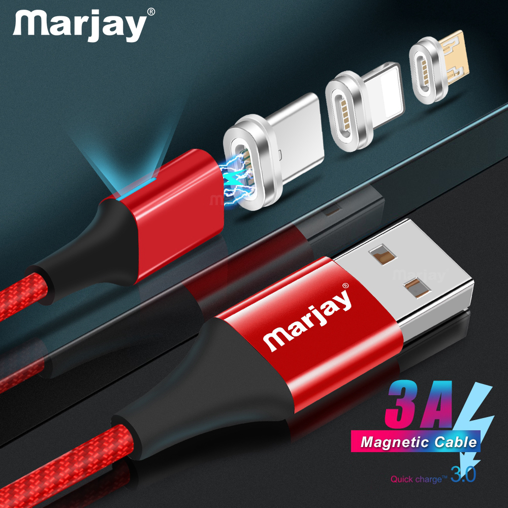 MArjay-2m-Magnetic-Cable-Micro-Usb-Type-C-Super-Fast-Charging-Phone-Usb-C-QC3-0 副本