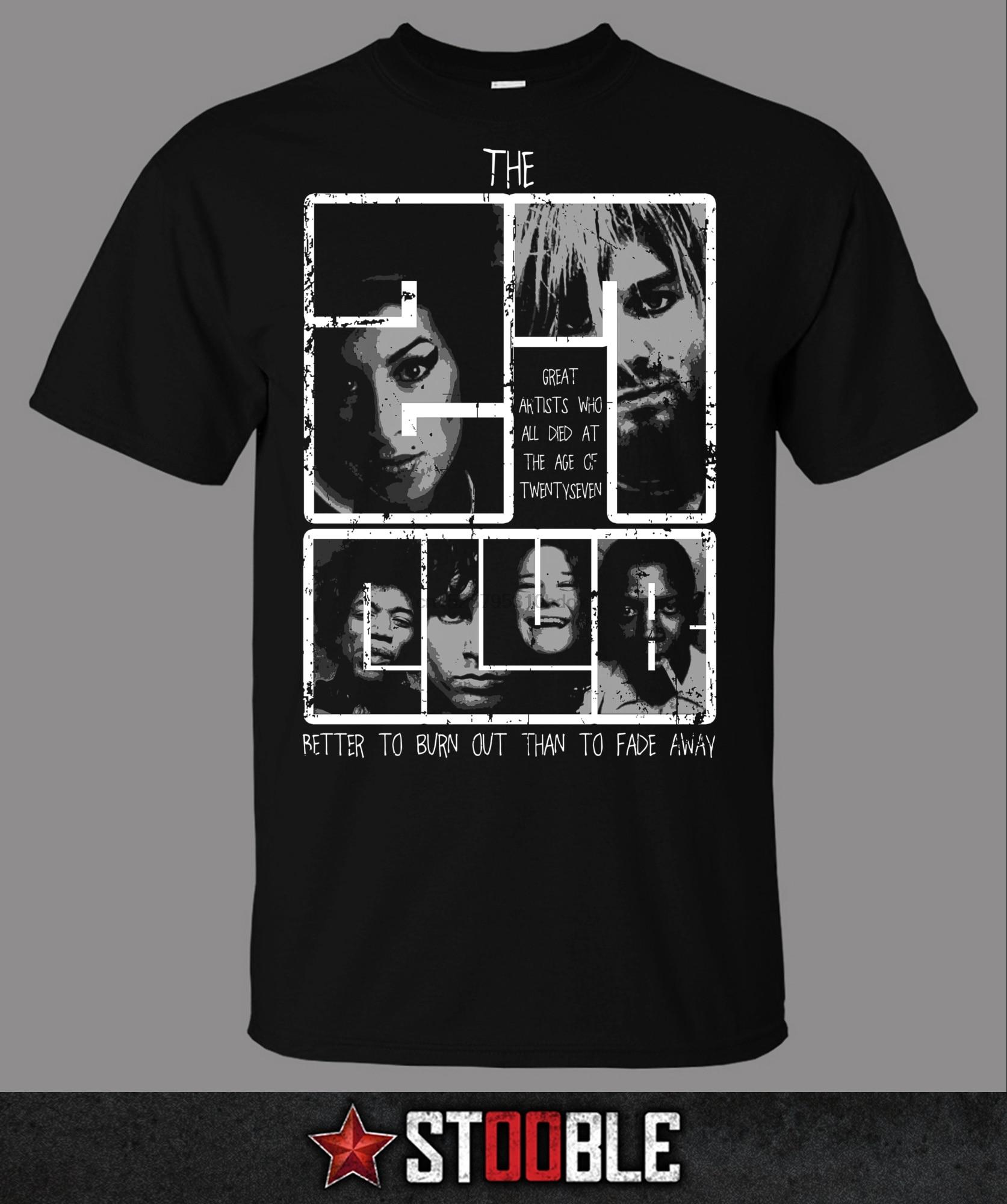 5XL jimi hendrix jim morrison cobain joplin nirvana doors 27 CLUB t-shirt S