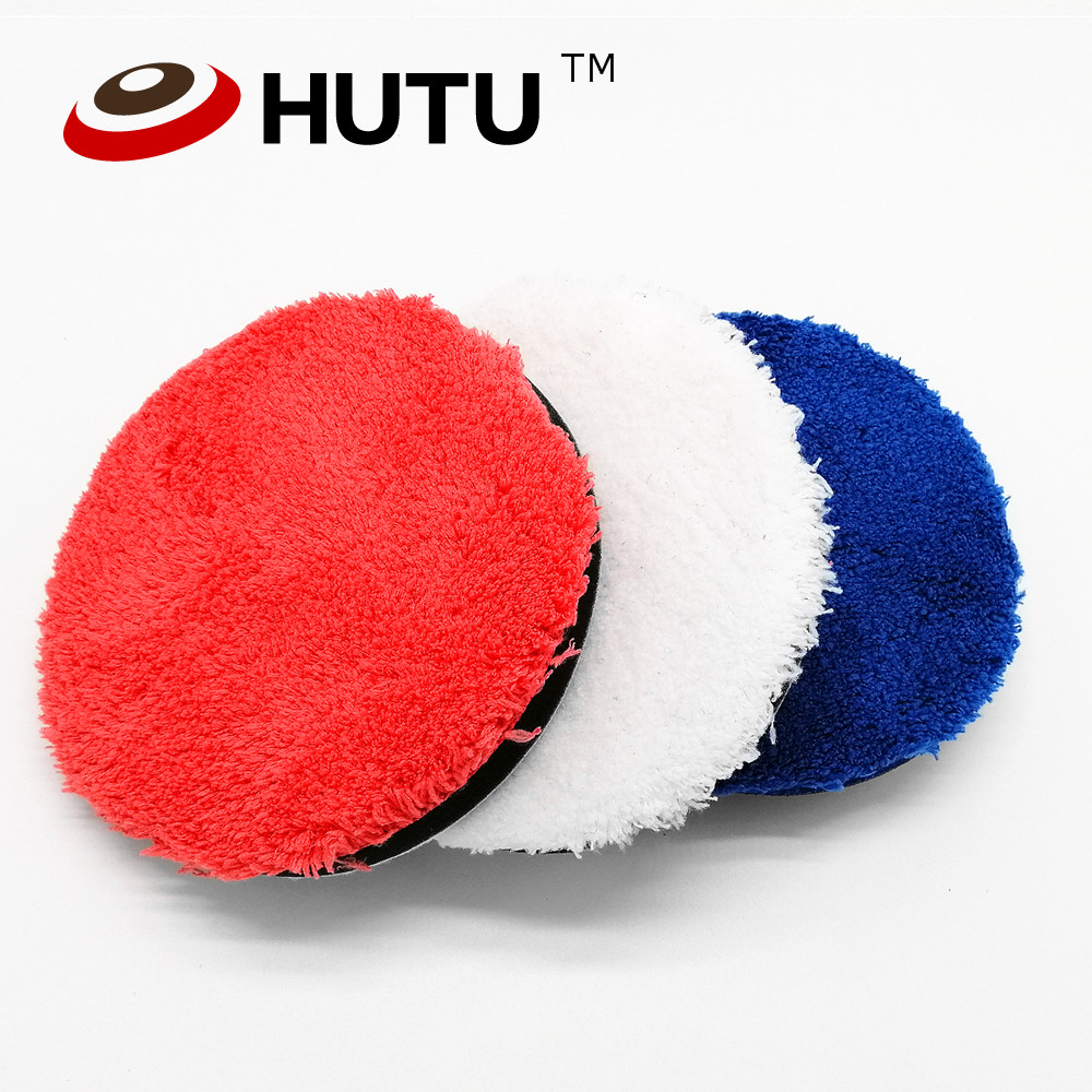 Polishing Pad Microfiber Buffing Pad For Car Polisher 5/6/7inch Red/white/blue