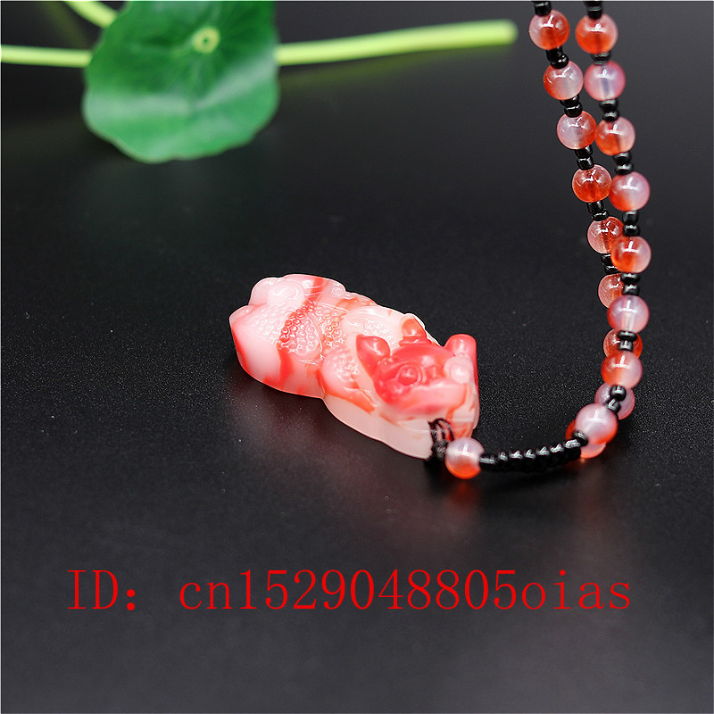 Natural Red White Chinese Jade Dragon Pendant Pixiu Necklace Fashion Charm Jadeite Jewelry Carved Tiger Amulet Gifts For Women