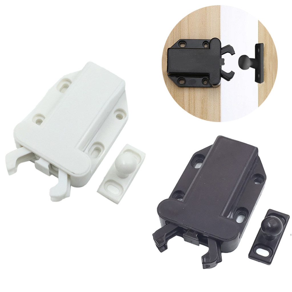 3pcs Touch Latch Latch Safe Push Latch Non-Magnetic Retaining Force For Drawer Cabinet Door Touch Latch Hoom Tools