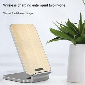 Image 5 - KISSCASE 10W ładowarka bezprzewodowa do iPhone XS drewniane szybkie bezprzewodowe ładowanie do Samsung Galaxy S9 S8 uwaga 10 ładowarka do telefonu