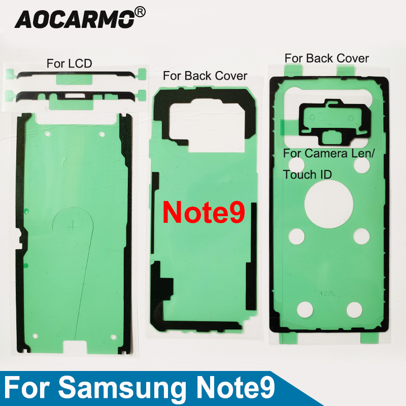 Aocarmo For Samsung Galaxy Note9 SM-N9600 Full Set Adhesive LCD Screen Tape Back Battery Cover Frame Camera Lens Sticker Glue
