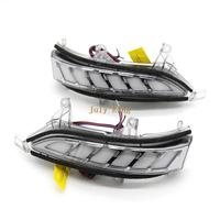 LED Rear view Mirror Lights Case for Lexus LX570 12 19 GX400 GX460 10 16, White DRL + Streamer Yellow Turn Signals +Ground Lamp