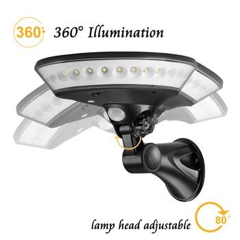 Everything Is Solar™ 360 Degree Lighting Outdoor Solar Light PIR Motion Sensor Solar Garden Light