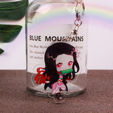 Japanese Anime Demon Slayer : Kimetsu no Yaiba Pendants Cartoon Figure Car Key Holder Chain Keyring Keychain Jewelry Accessories(China)