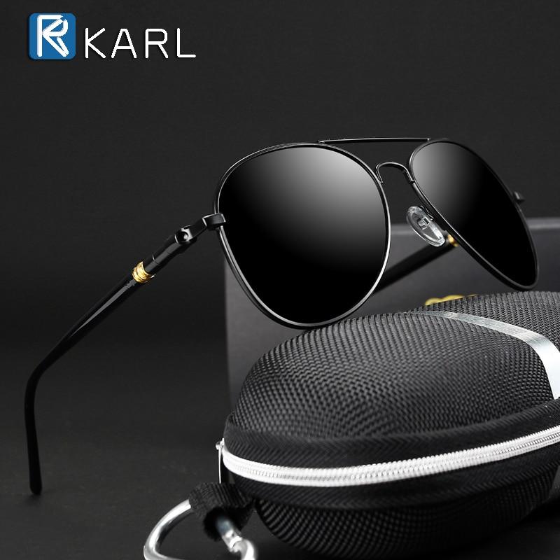 Occhiali da sole classici polarizzati uomo occhiali da guida occhiali da sole pilota neri Designer di marca occhiali da sole retrò maschili per uomo/donna 1