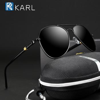 okulary przeciwsłoneczne spolaryzowane męskie okulary do jazdy czarne okulary przeciwsłoneczne pilotki marka projektant męskie okulary w stylu Retro dla mężczyzn kobiet okulary męskie polaryzacyjne tanie i dobre opinie NoEnName_Null CN (pochodzenie) Dla dorosłych Miedzi UV400 48mm Żywica T071402-10 56mm frame Gray tea Men s Sunglasses