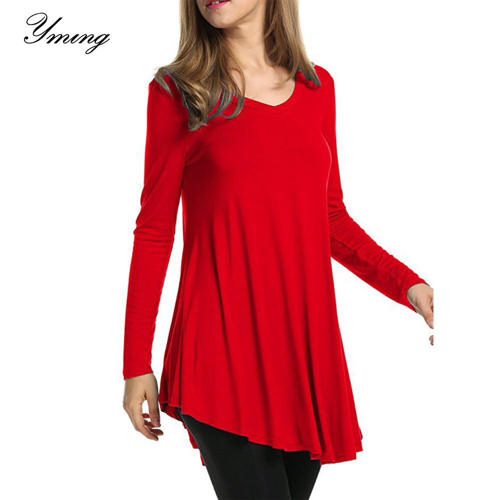 aihihe Long Sleeve T Shirt for Women V Neck Casual Loose Tie Dye Color Block Tunic Tops for Leggings Flowy Shirt
