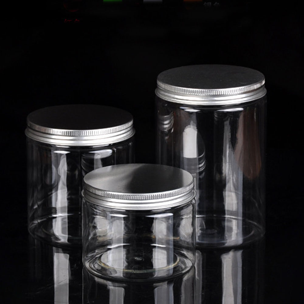10 Size Clear Plastic Jar and Lids Empty Cosmetic Containers Travel Refillable Storage Bottle Household Storage Products