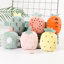 Pet Toys Dog Plush Chewing Vocal Toy Cactus Watermelon Pineapple Strawberry Fruit Shape Bite-resistant Molar Interactive Toy