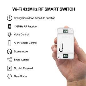 Image 2 - Interrupteur intelligent Wifi RF, minuteur vocal, télécommande, Module domotique, avec Alexa, application Tuya Smart Life