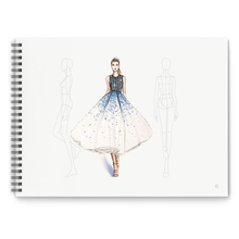 A4 Clothing Designer Dotted Line Human Body Painting Notebook Design Professional Womens Mens Clothing Sketch Book 50 sheets