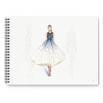A4 Designer di Abbigliamento Punteggiato Linea di Pittura Del Corpo Umano del Taccuino di Disegno degli uomini delle Donne Professionali Abbigliamento Schizzo Libro