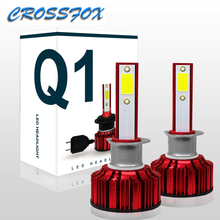 Car Styling LED Lights Accessories Light Auto H7 Headlight  HB3 9005 Bulb HB4 9006 H8 H9 H11 H4 Assembly