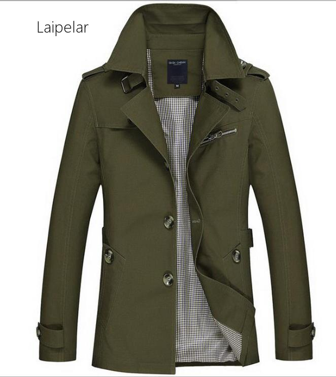 Laipelar New 2020 Trench Coat Mens Jacket 5XL Autumn Long Coat Mens OverCoat Slim Fit Brand Clothing Windbreaker Male Business