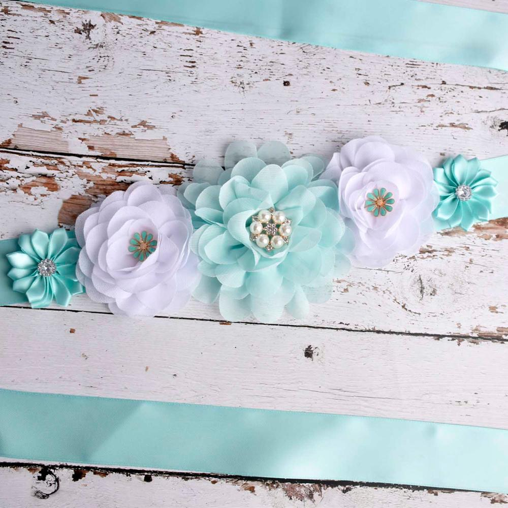 Flower Sash Maternity Sash Pregnancy Belly Belt Baby Shower Party Belt Photo Prop Baby Gift Postpartum Belt Pregnant Accessory