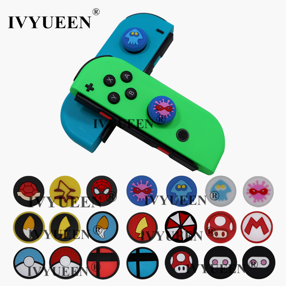 IVYUEEN 2 Pcs Analog Grips For NintendoSwitch Lite NS Mini JoyCon Controller Thumb Stick Cap For Nintend Joy-Con Joystick Cover