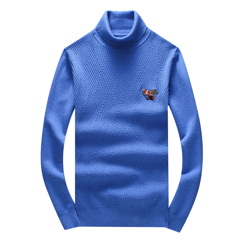 New 2019 Men Luxury Winter Hot Bee Striped Embroidered Casual Sweaters Pullover Asian Plug Size High Quality Drake #N51