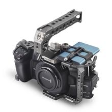 TILTA BMPCC 4K هيكل قفصي الشكل للكاميرا/حالة TA-T01-B-G الأساسية حزمة ل Blackmagic سينما كاميرا-TILTA رمادي