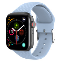 New 3D Texture Silicond band for Apple Watch 4 38mm 40mm 42mm 44mm Sport Soft Watchbands Straps Iwatch Series 4/1/2/3 Wristband