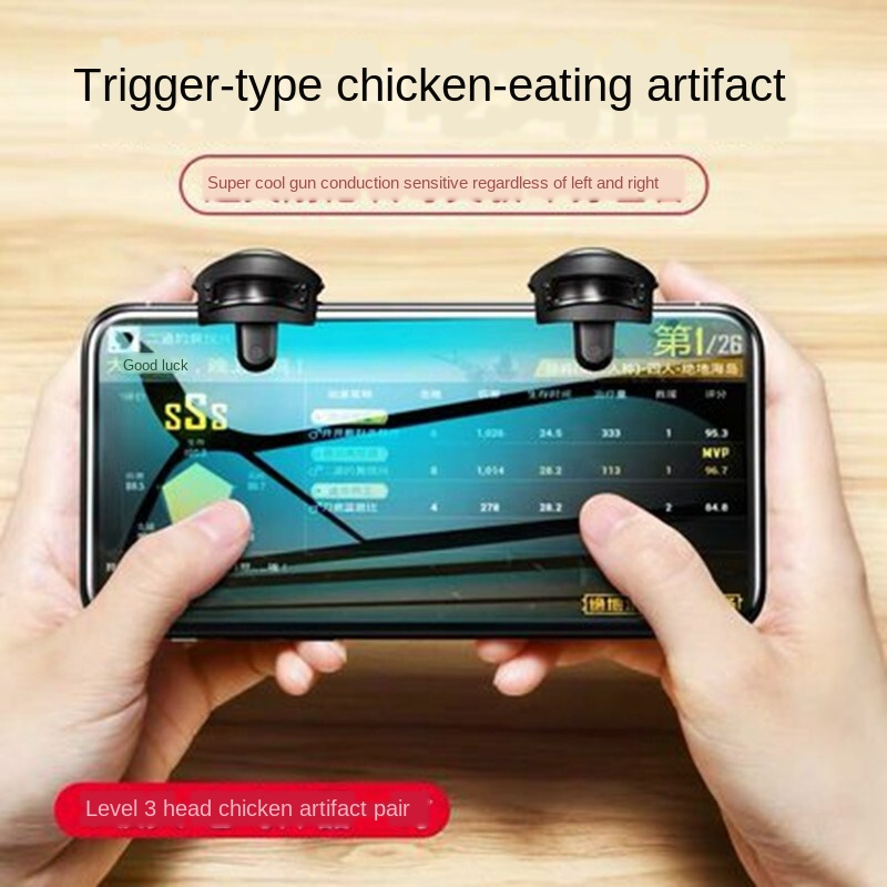 New Joystick For Phone Metal PUBG Mobile Trigger Gamepad Gaming L1R1 <font><b>Shooter</b></font> Pubg Mobile Controller Smart Phone Fire Button Aim image