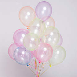 10 Pcs 10Inch Latex Bubble Balloons No Wrinkle Crystal Helium-Bobo Transparent Clear Birthday-Party-Wedding-Decor Accesoires