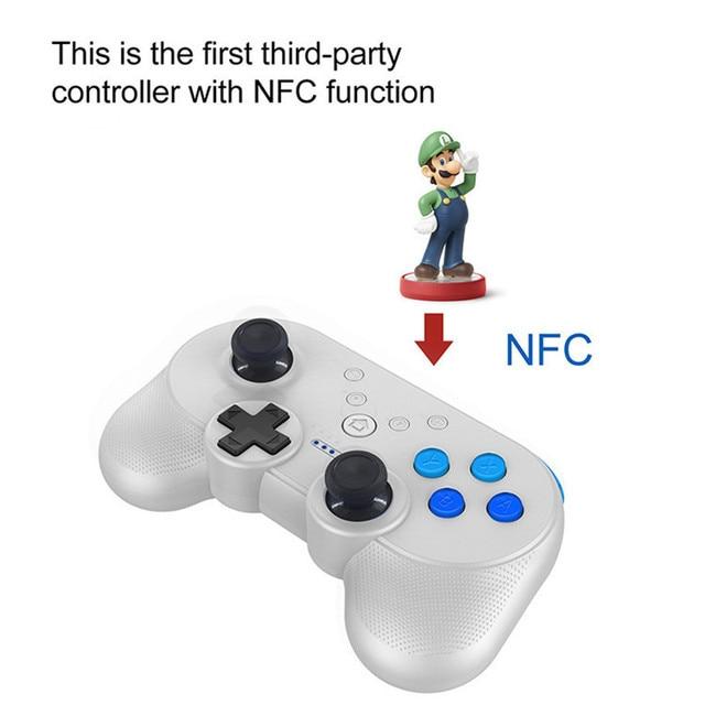 Nintend Công Tắc Mini Không Dây Nhỏ Gọn Tay Cầm Chơi Game Bluetooth Điều Khiển Chơi Game Cho Nintendos Switch NS Cho Game Tay Cầm W/Chức Năng NFC