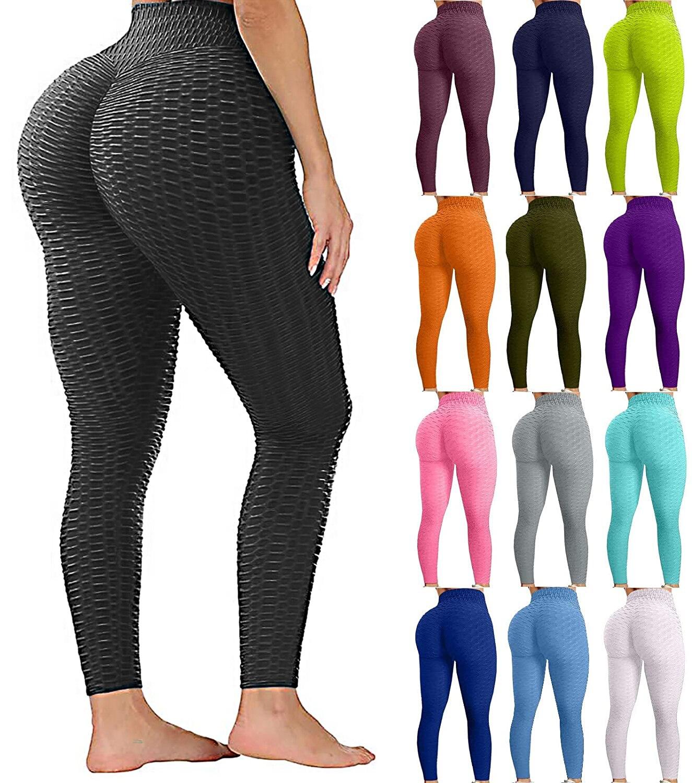 LYKMERA Butt Lifting Yoga Pants High Waist Women Sport Yoga Legging Stretchy Workout Leggings Booty Bubble Tights GYM Sportswear
