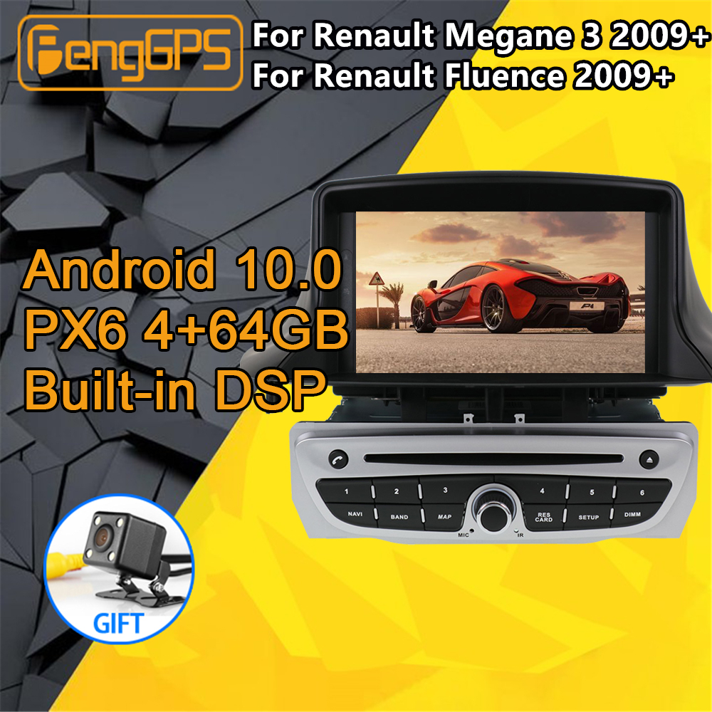For Renault <font><b>Megane</b></font> <font><b>3</b></font> Fluence Multimedia Android Radio 2009+ Audio PX6 Car DVD Player <font><b>GPS</b></font> Navigation Head unit Autoradio cassette image